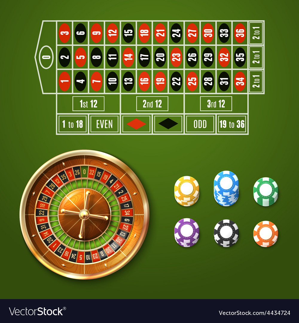 European roulette set vector | Price: 1 Credit (USD $1)