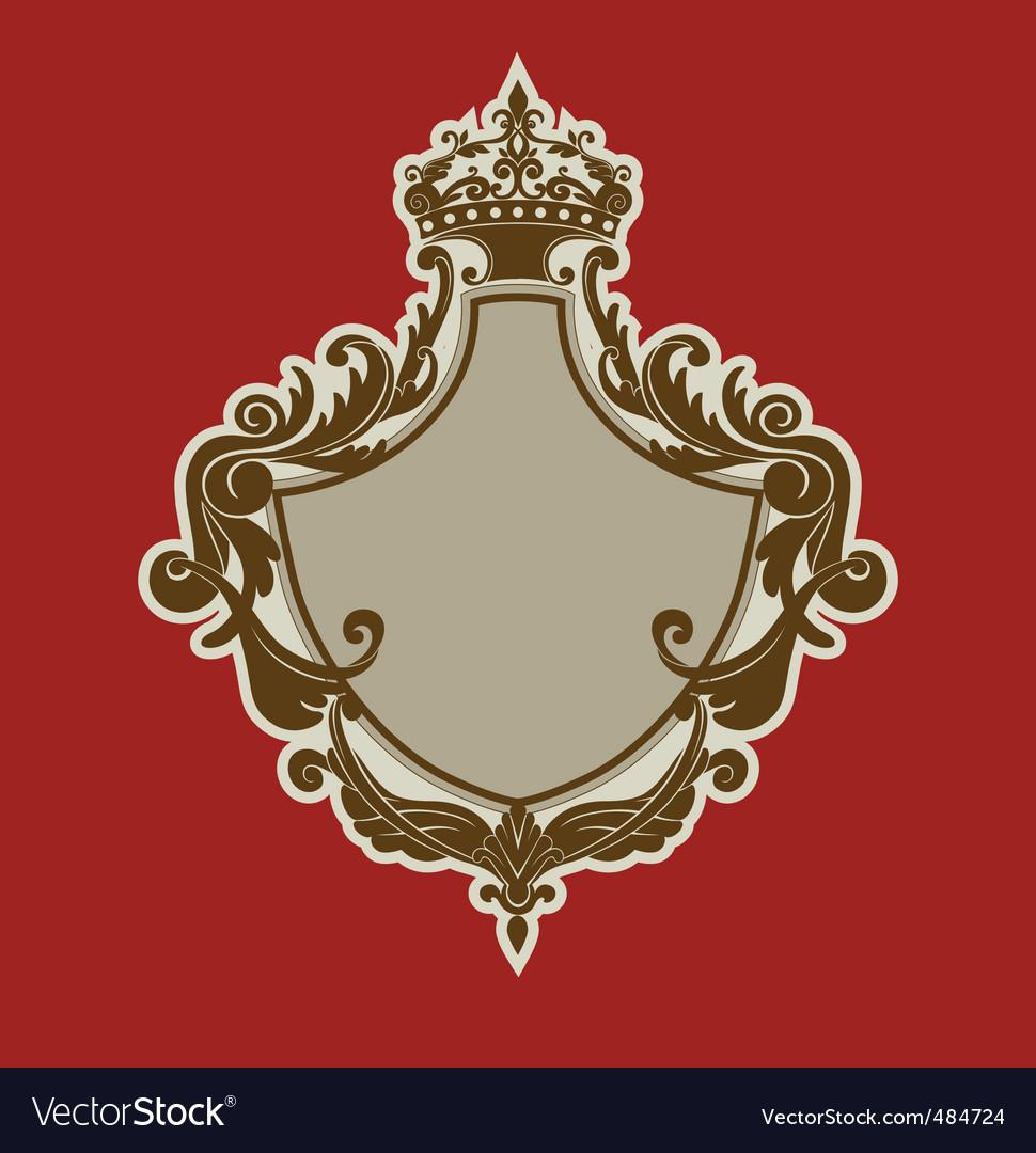 Heraldic shield vector | Price: 1 Credit (USD $1)