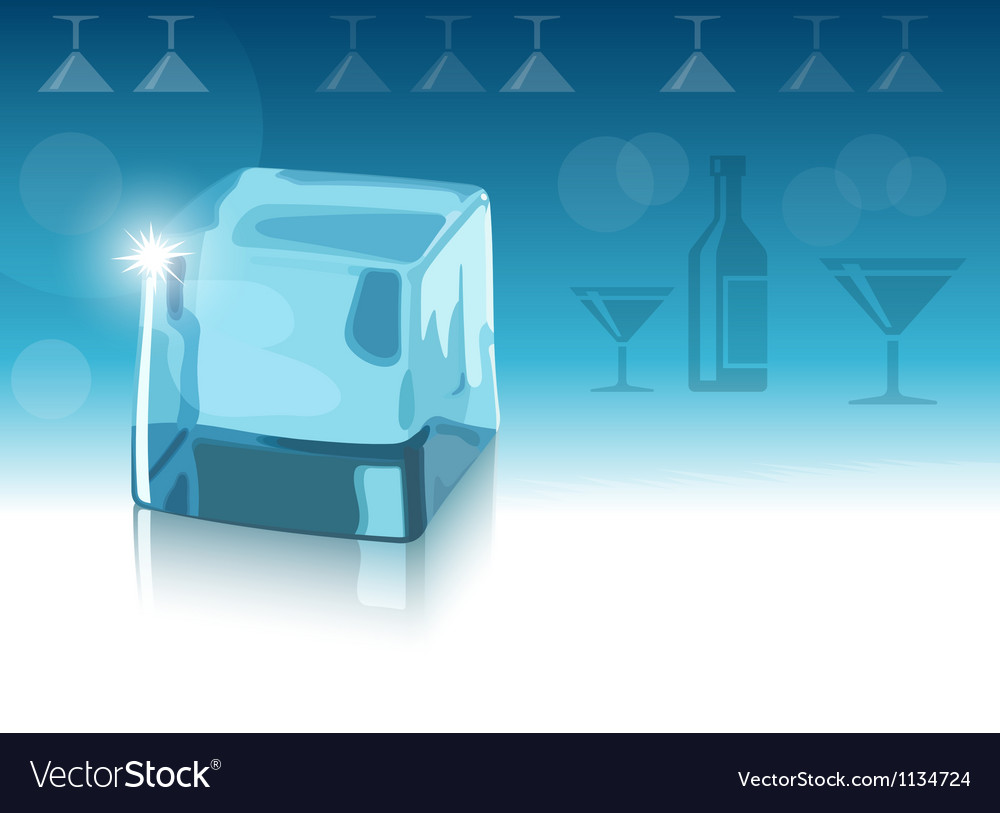 Ice cube and blue background eps10 vector | Price: 1 Credit (USD $1)