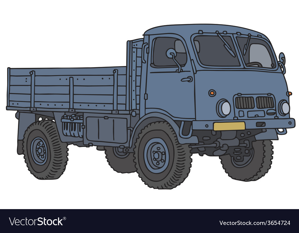 Old all terrain truck vector | Price: 1 Credit (USD $1)