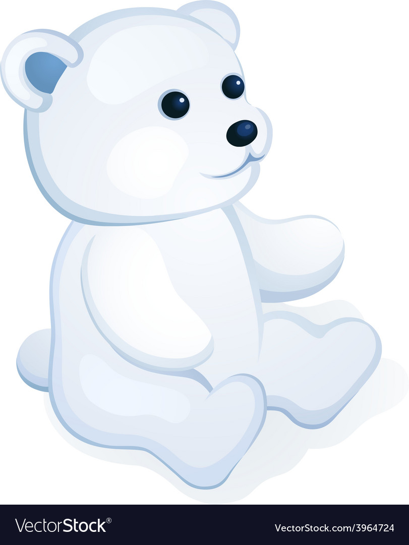Plush white bear vector | Price: 1 Credit (USD $1)