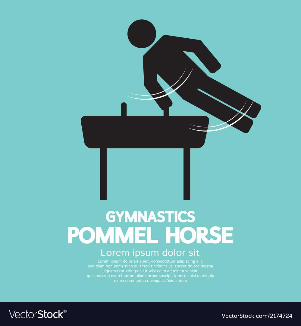 Pommel horse gymnastics vector   Price: 1 Credit (USD $1)