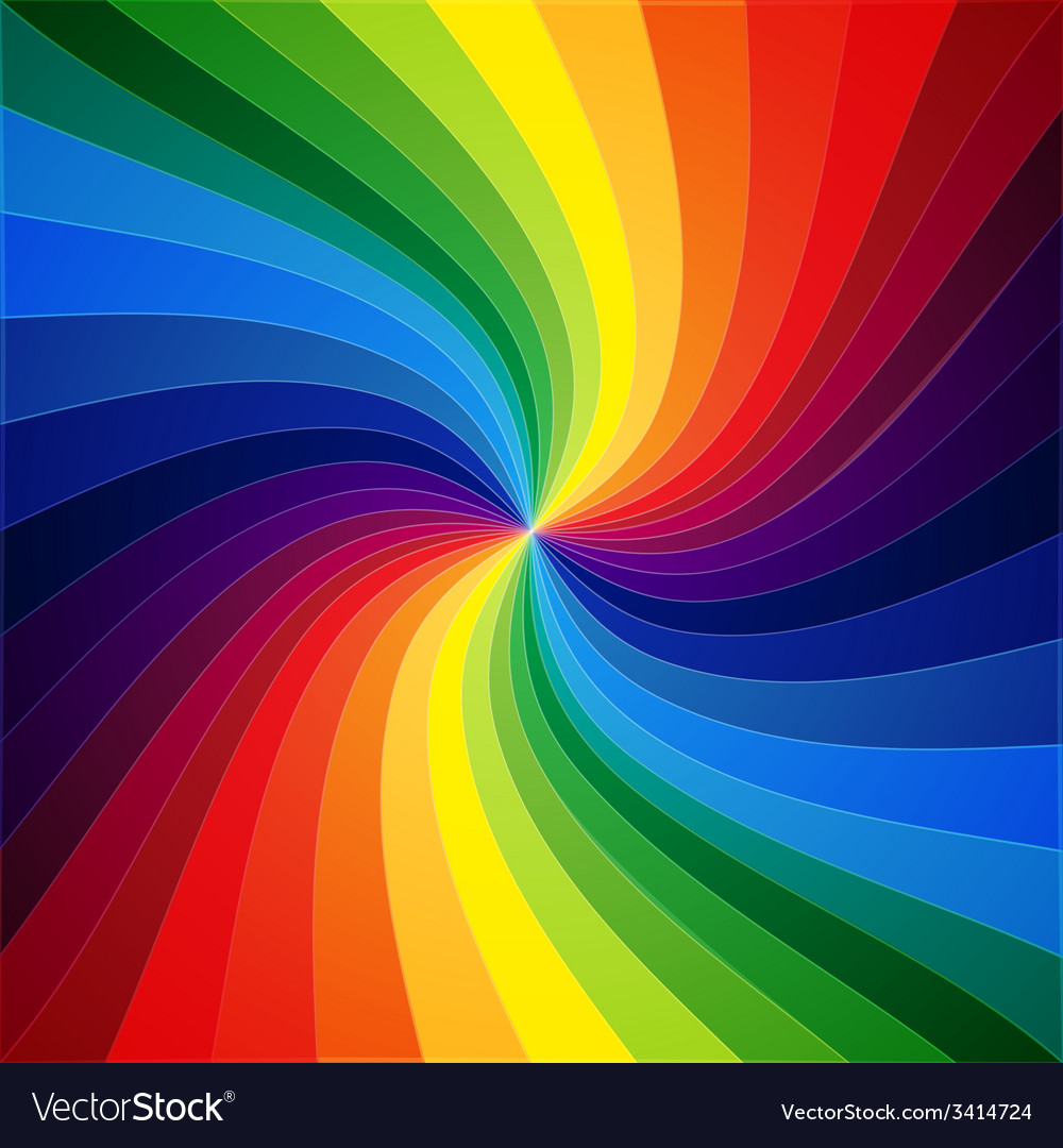 Rainbow colorful warped stripes background vector | Price: 1 Credit (USD $1)