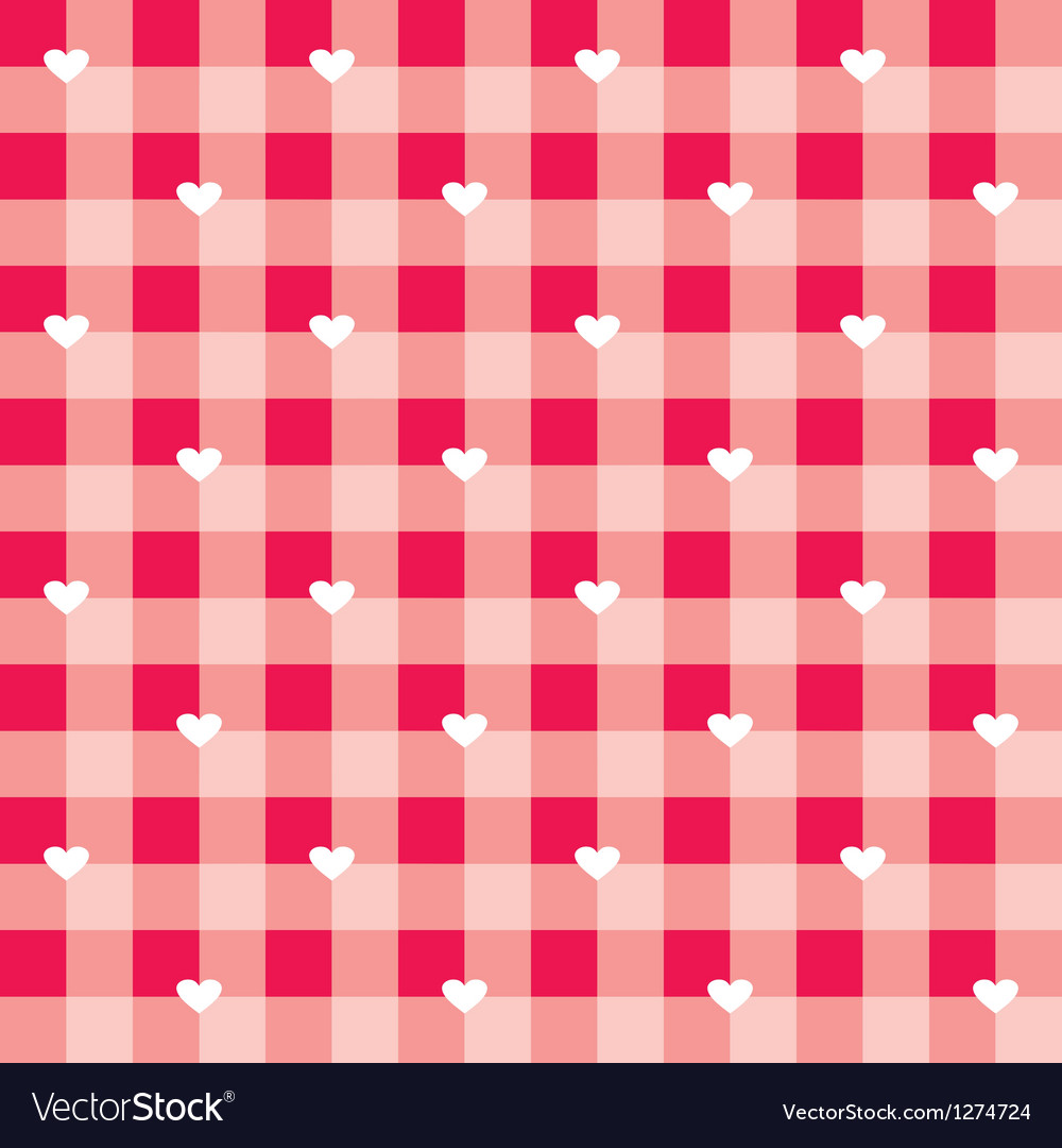 Seamless sweet red valentines background with love vector | Price: 1 Credit (USD $1)