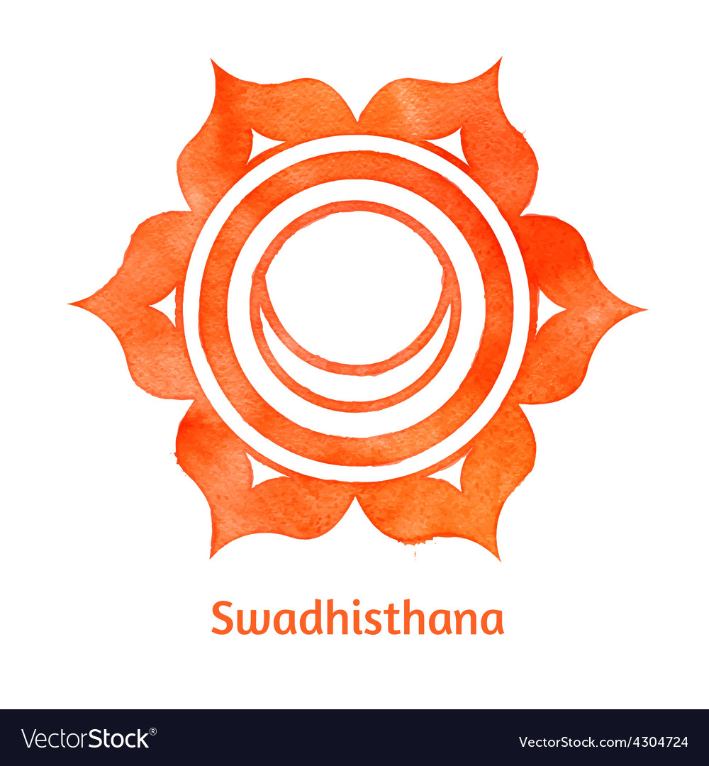 Swadhisthana chakra vector | Price: 1 Credit (USD $1)