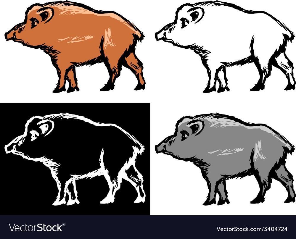 Wild boar vector | Price: 1 Credit (USD $1)
