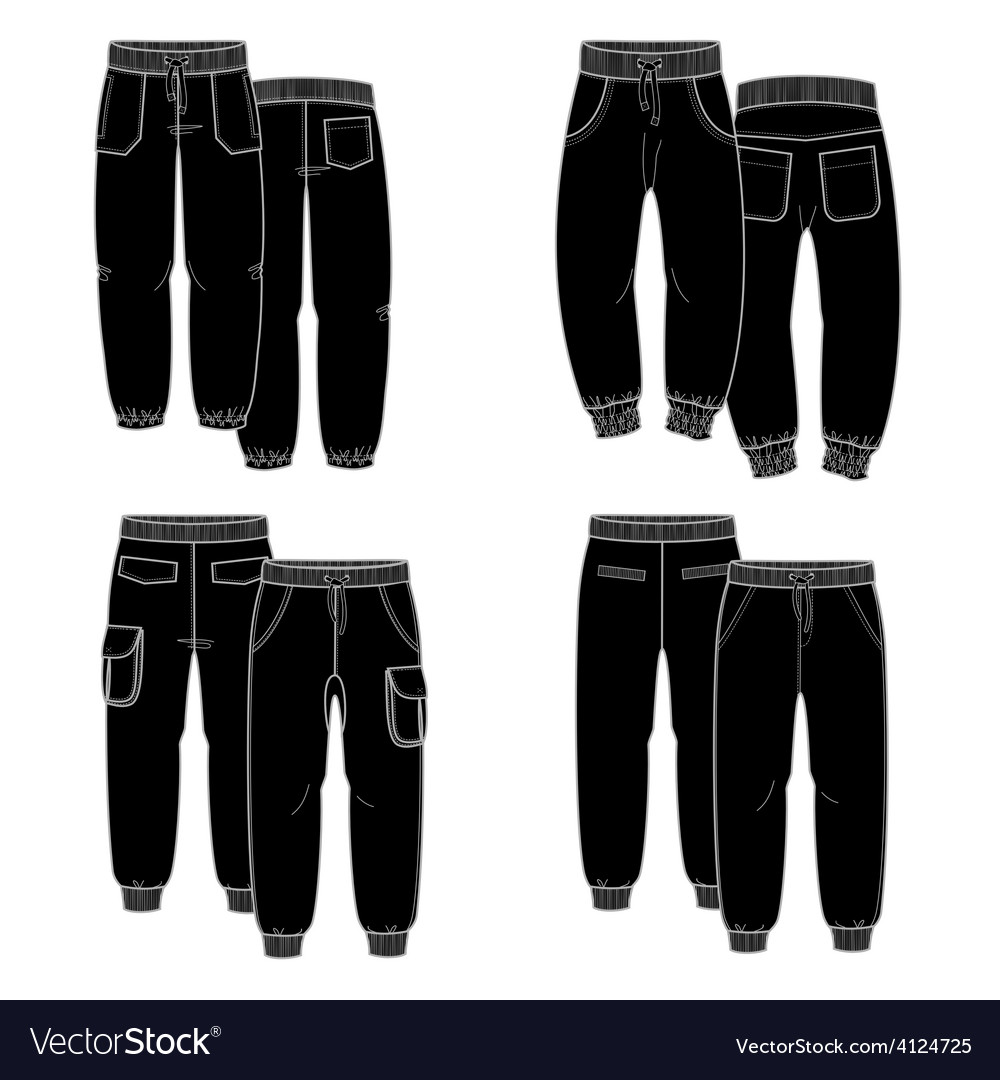 Black trousers vector | Price: 1 Credit (USD $1)