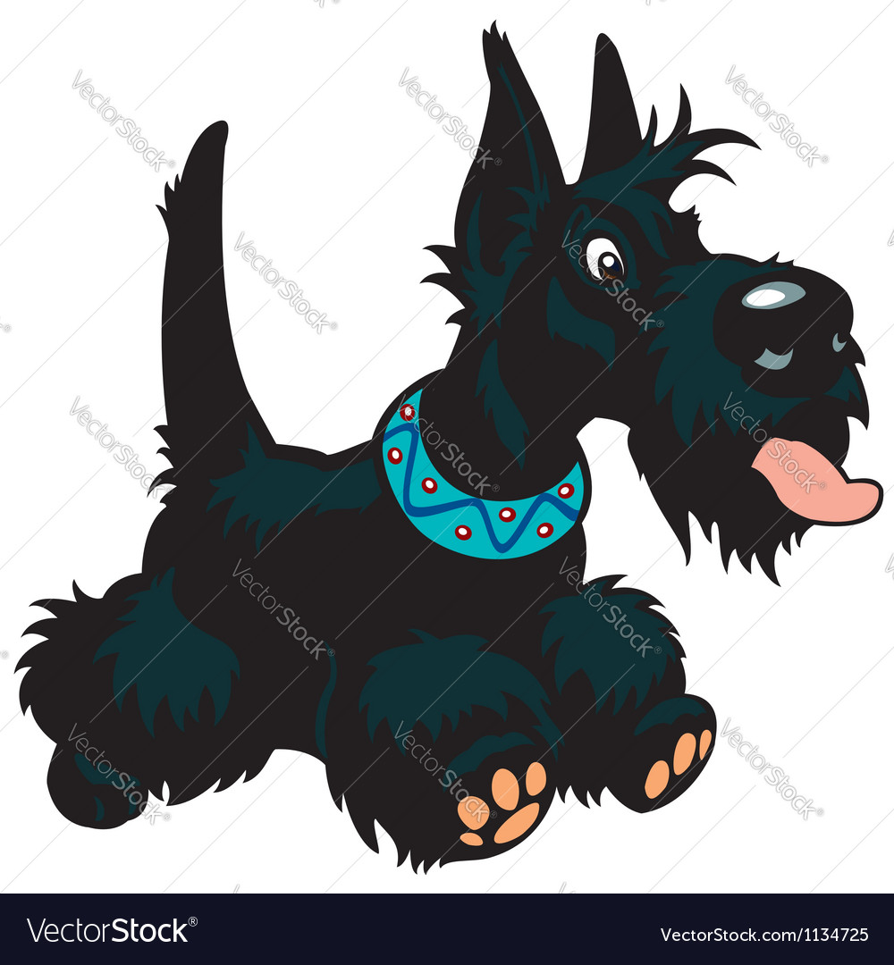 Cartoon scottish terrier vector | Price: 1 Credit (USD $1)