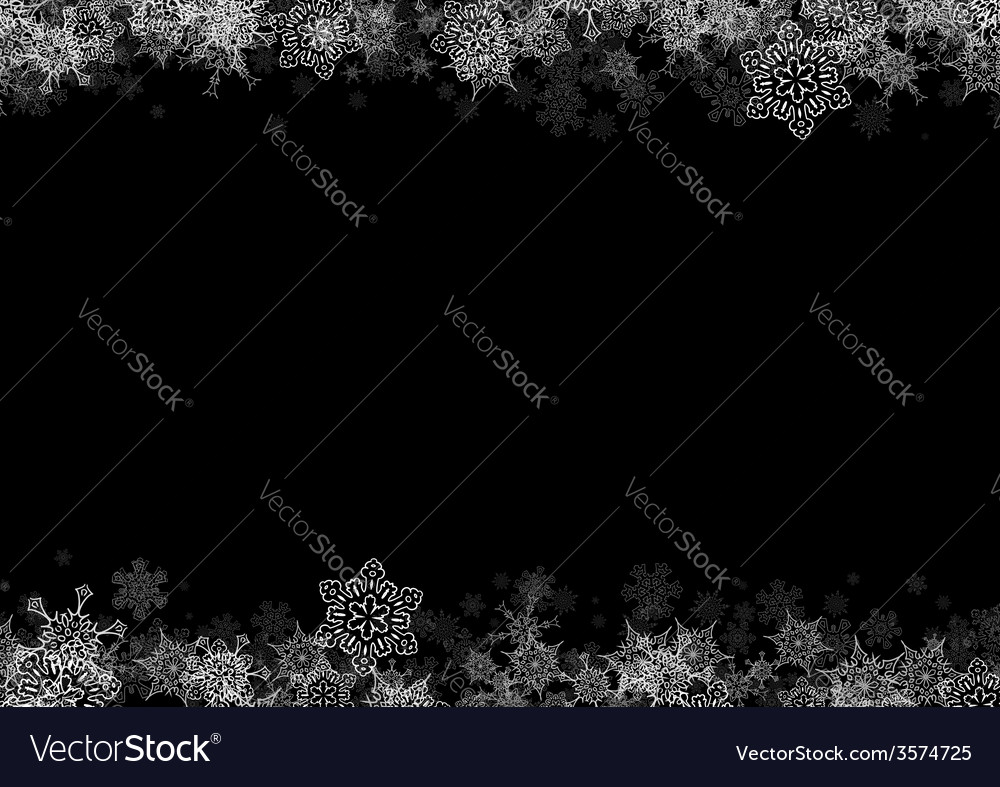Frame with drawn snowflakes layered vector | Price: 1 Credit (USD $1)