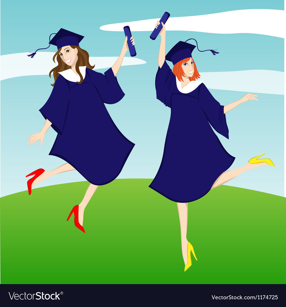 Graduation girl vector | Price: 3 Credit (USD $3)