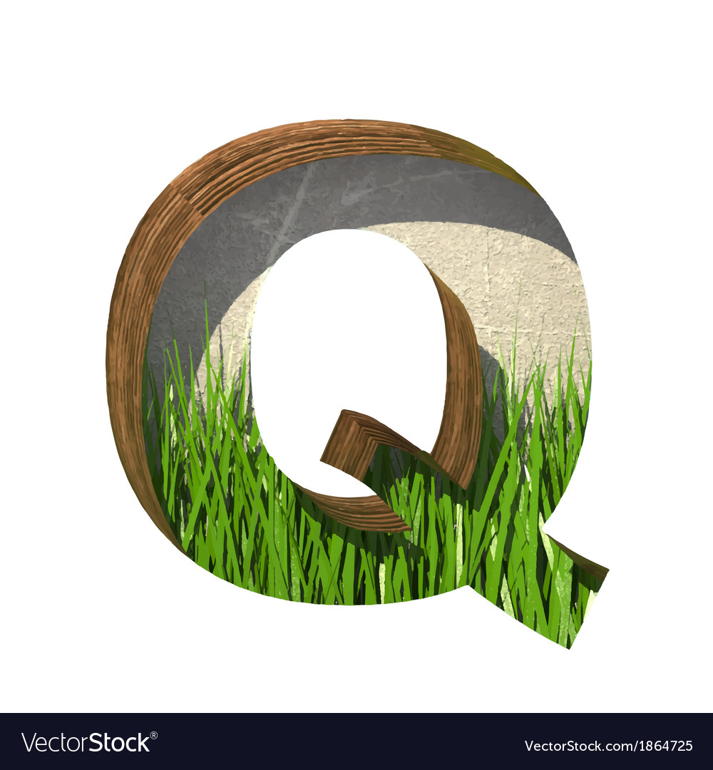 Grass cutted figure q paste to any background vector | Price: 1 Credit (USD $1)