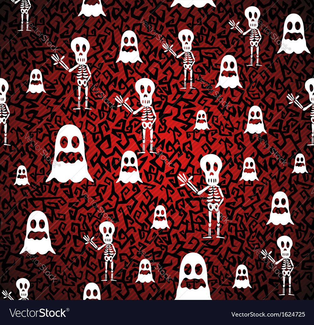 Happy halloween elements seamless pattern vector | Price: 1 Credit (USD $1)