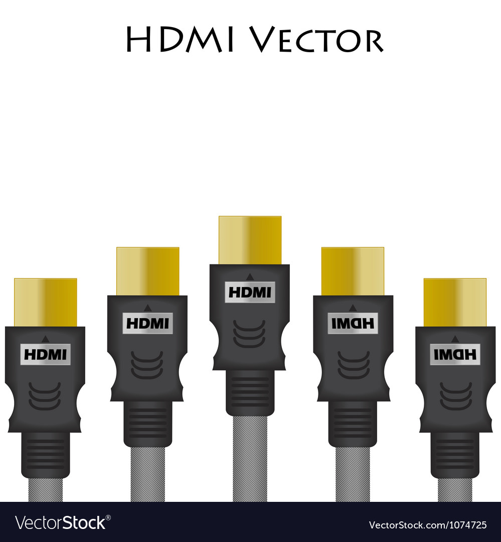Hdmi size of vector | Price: 1 Credit (USD $1)