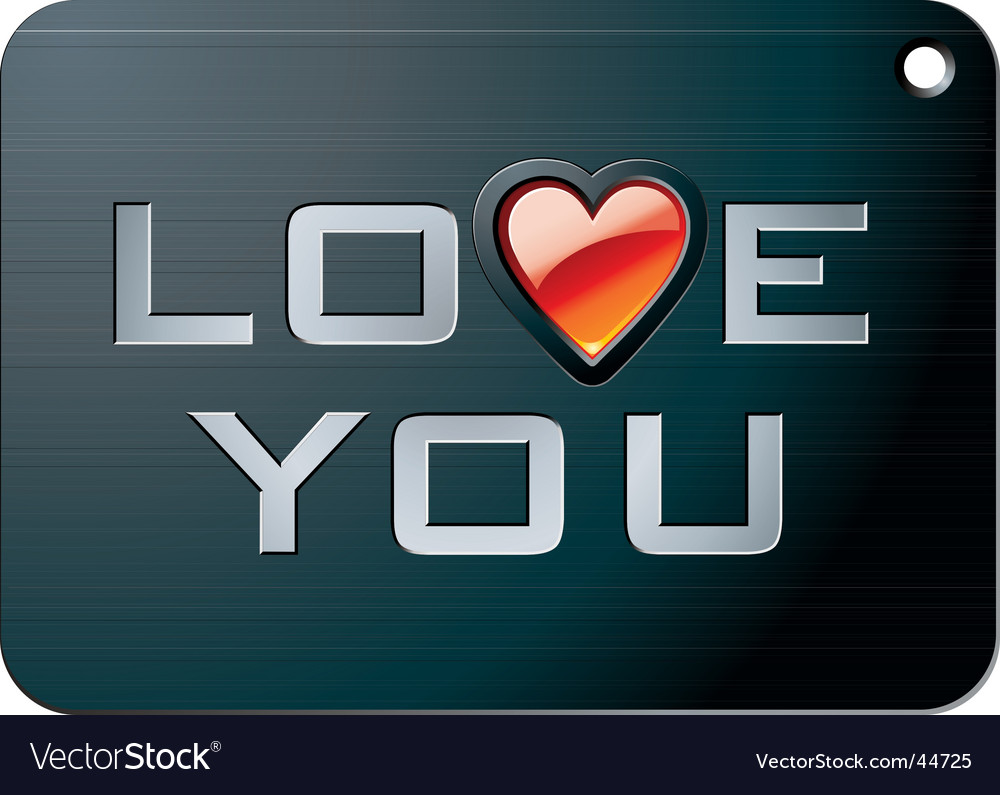 Metal tablet for valentines day vector | Price: 1 Credit (USD $1)