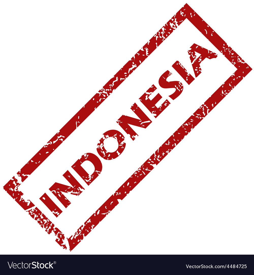 New indonesia rubber stamp vector | Price: 1 Credit (USD $1)