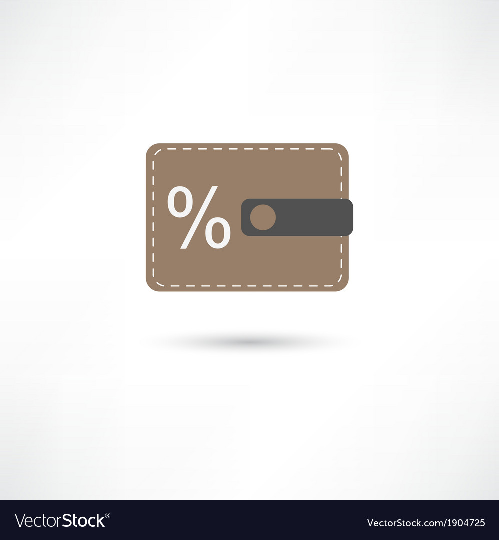 Purse and percent vector | Price: 1 Credit (USD $1)