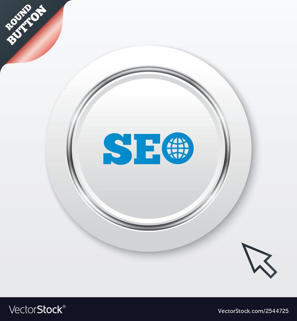 Seo sign icon search engine optimization symbol vector | Price: 1 Credit (USD $1)