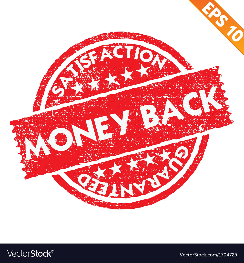 Stamp sticker money back collection - - eps vector | Price: 1 Credit (USD $1)
