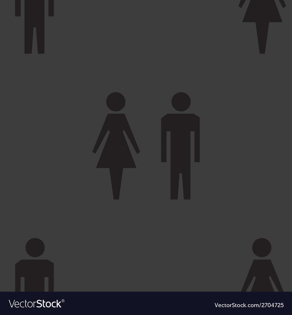 Suluet men women web icon flat design seamless vector | Price: 1 Credit (USD $1)