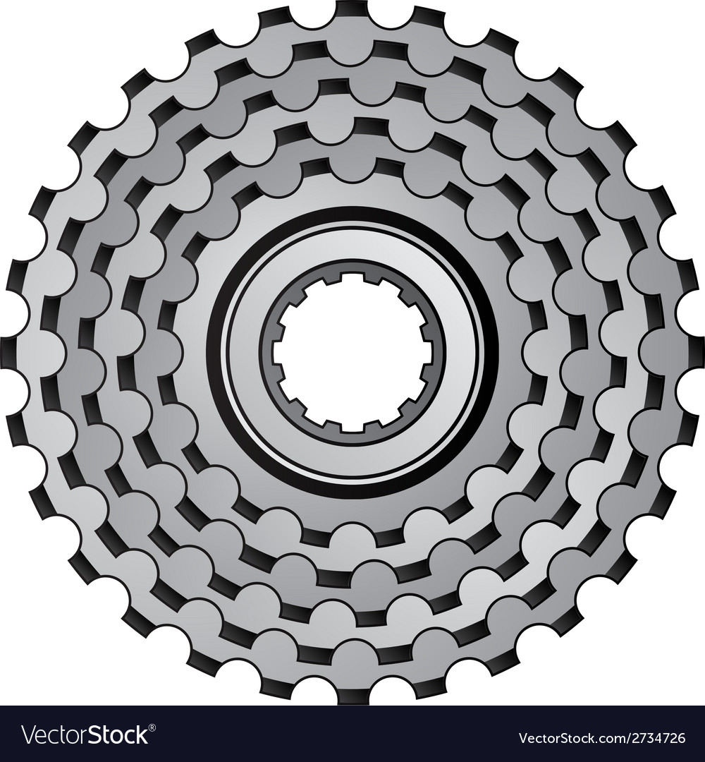 Bicycle gear cogwheel sprocket icon vector | Price: 1 Credit (USD $1)