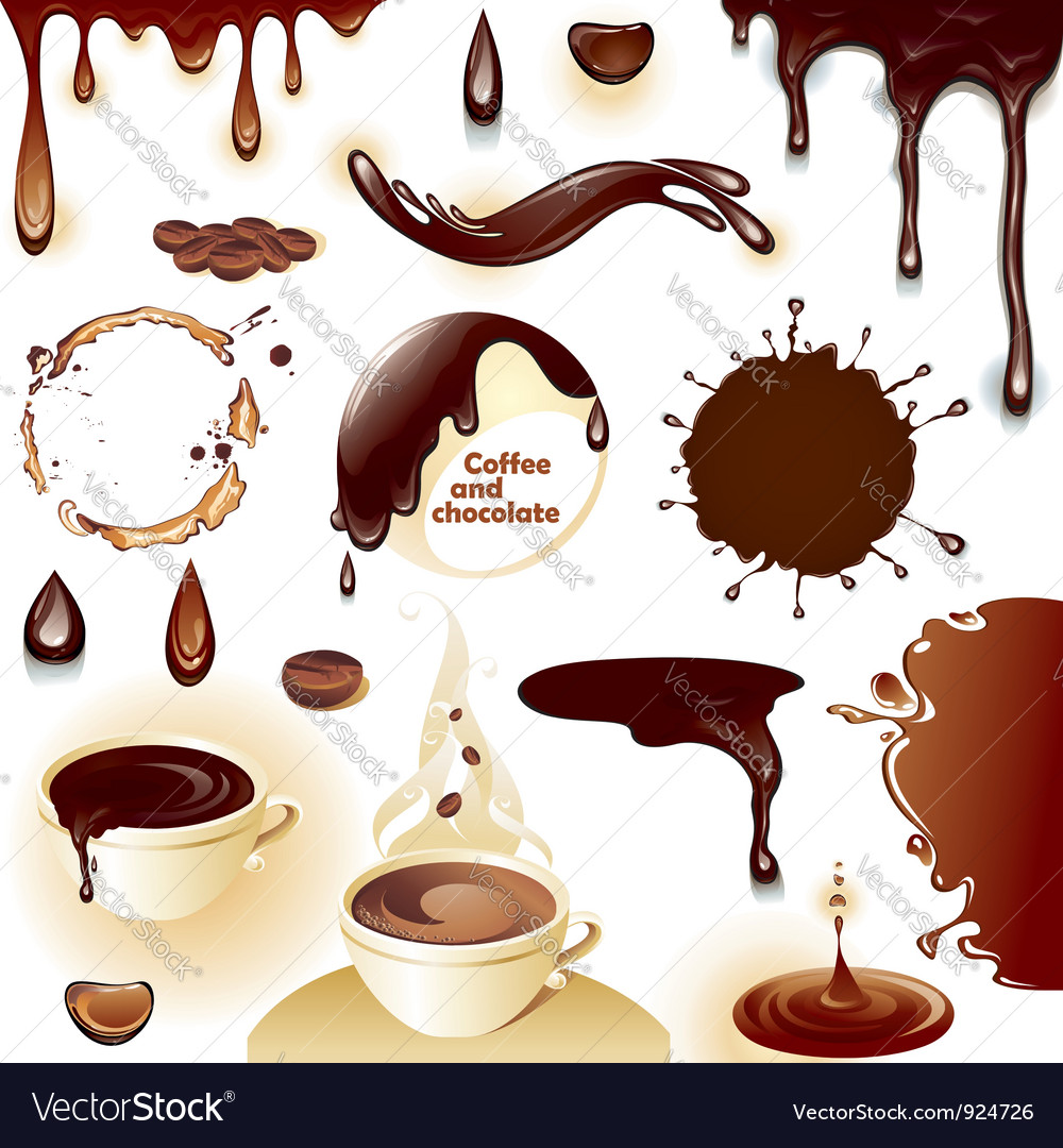 Coffee and chocolate vector | Price: 3 Credit (USD $3)
