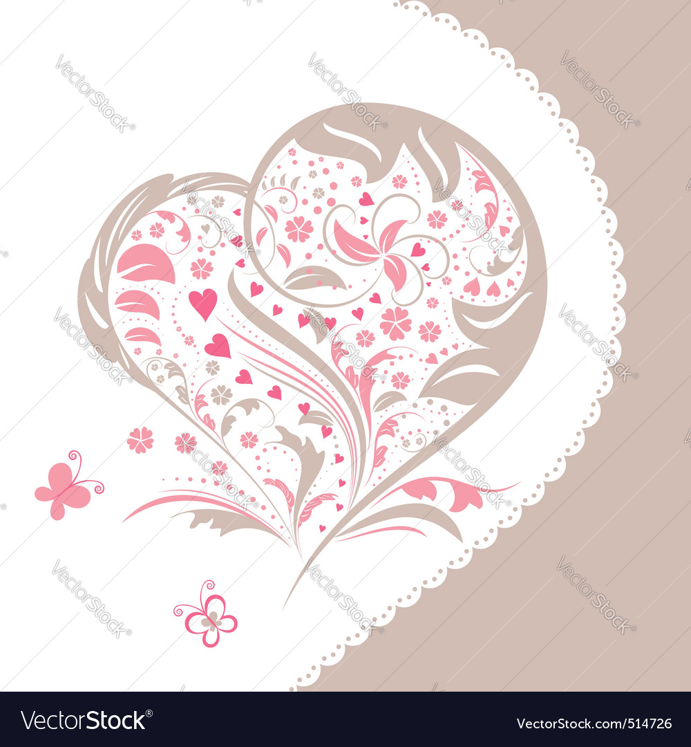 Floral decoration vector | Price:  Credit (USD $)