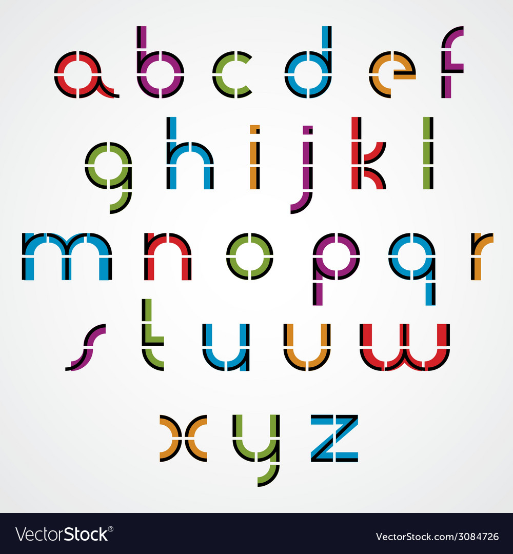 Geometric style letters alphabet vector | Price: 1 Credit (USD $1)