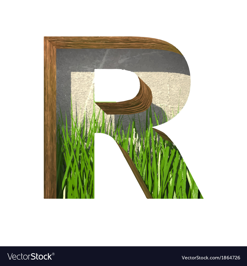 Grass cutted figure r paste to any background vector | Price: 1 Credit (USD $1)