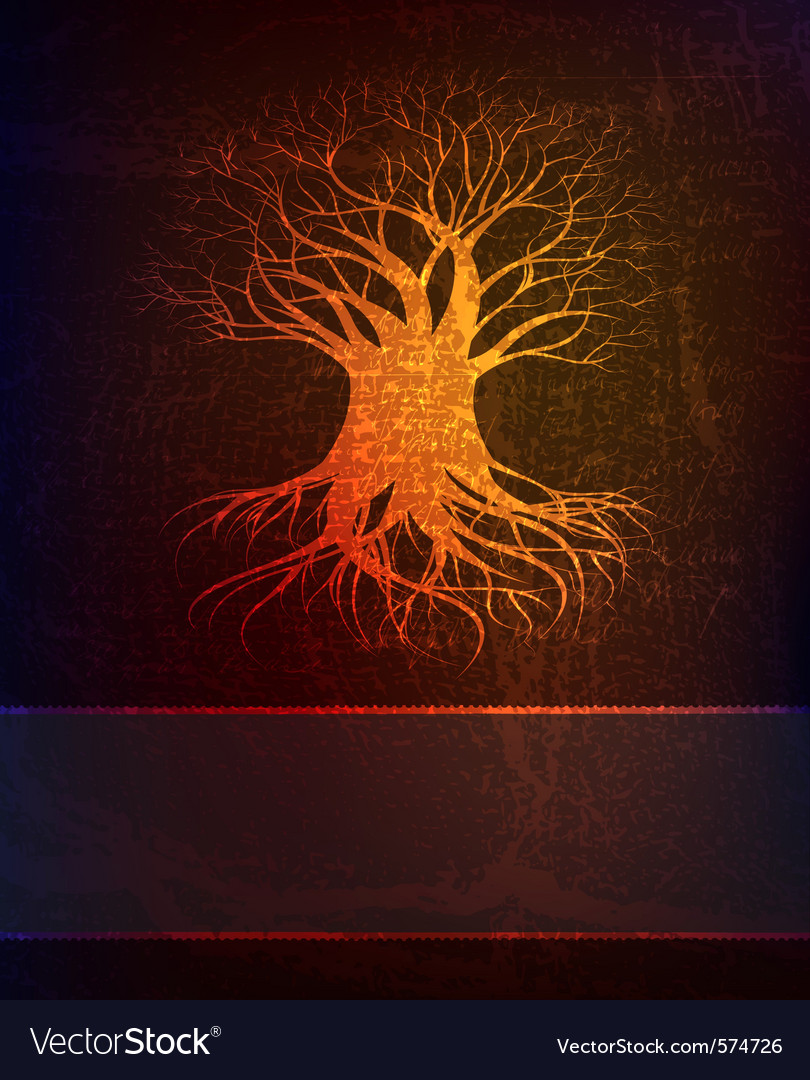 Grungy background with tree vector | Price: 1 Credit (USD $1)