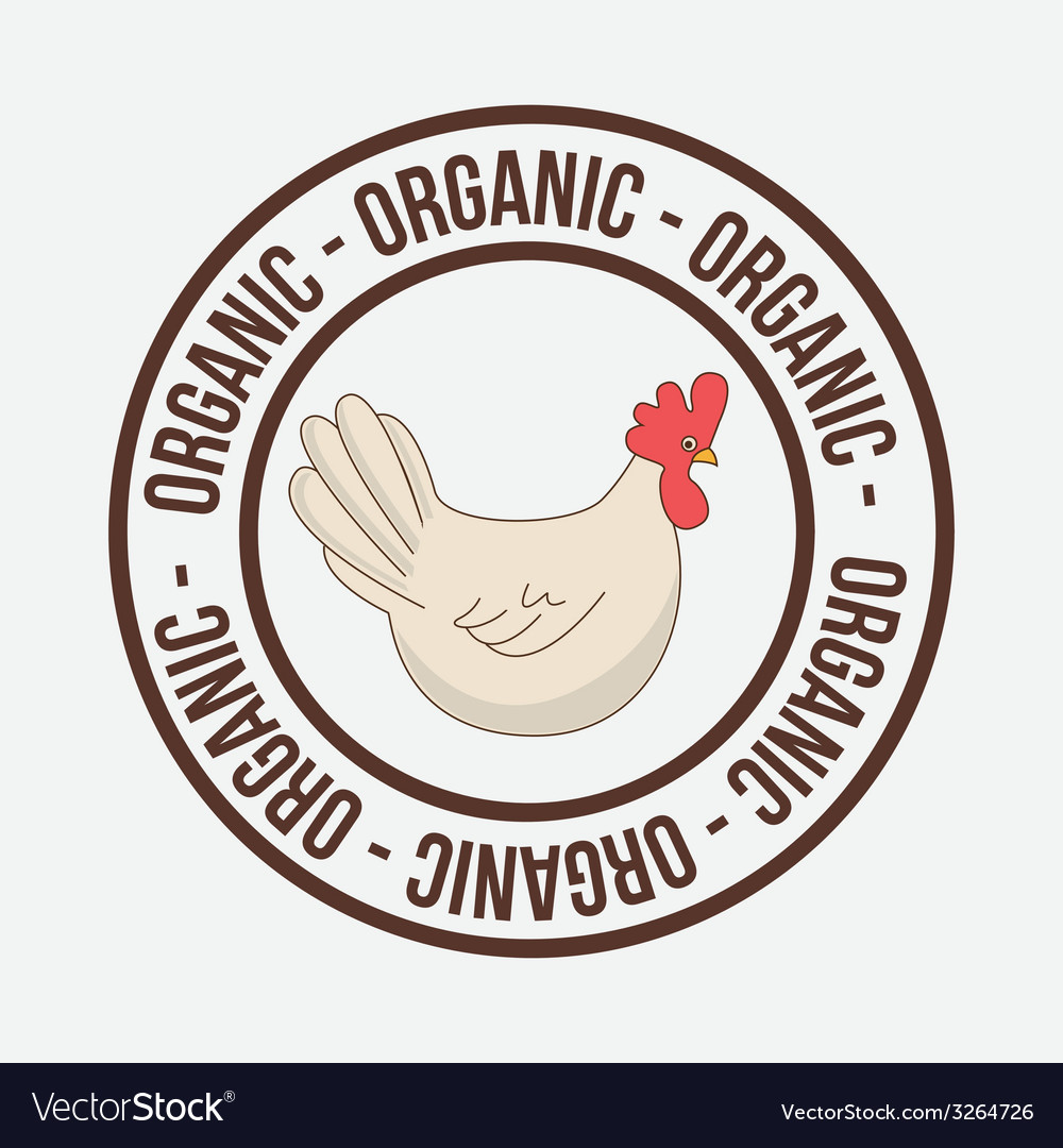 Organic food design vector | Price: 1 Credit (USD $1)
