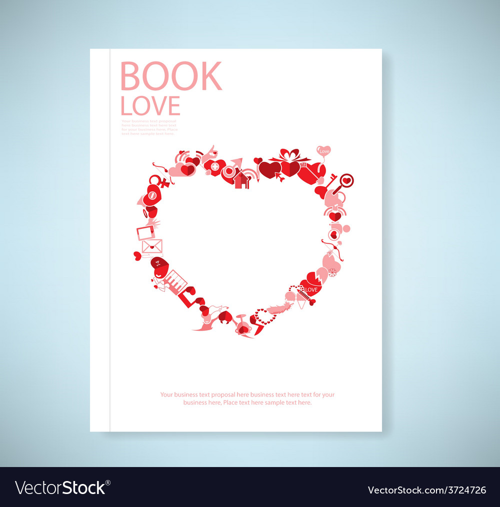 Report red icon heart valentines day card with sig vector | Price: 1 Credit (USD $1)