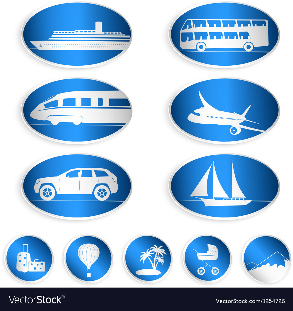 Travel labels logos and stickers vector | Price: 1 Credit (USD $1)