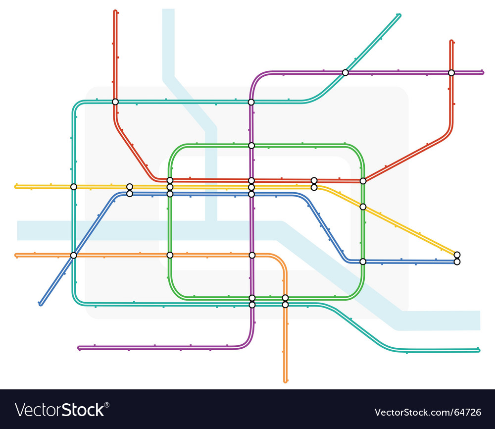 Underground map vector | Price: 1 Credit (USD $1)