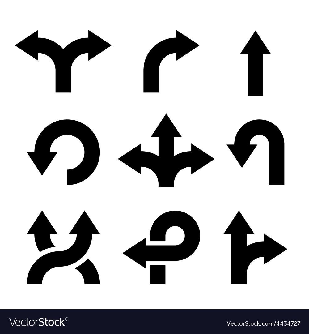 Arrows icons set vector | Price: 1 Credit (USD $1)