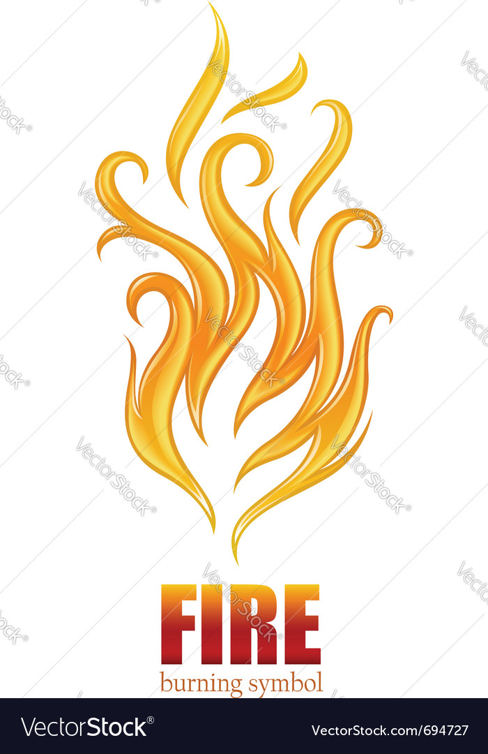 Burning flame of fire vector | Price: 1 Credit (USD $1)