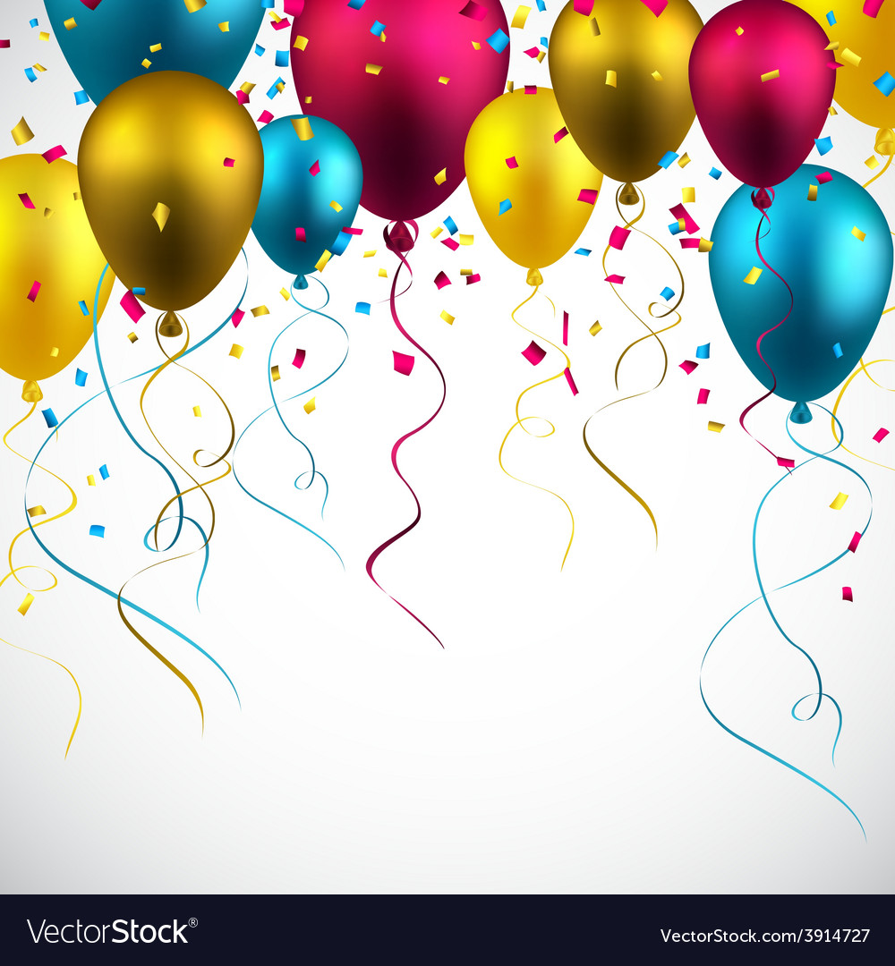 Celebrate colorful background with balloons vector   Price: 1 Credit (USD $1)