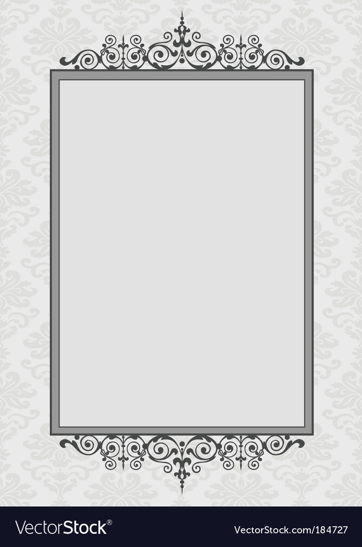 Decorative pattern and frame vector | Price: 1 Credit (USD $1)