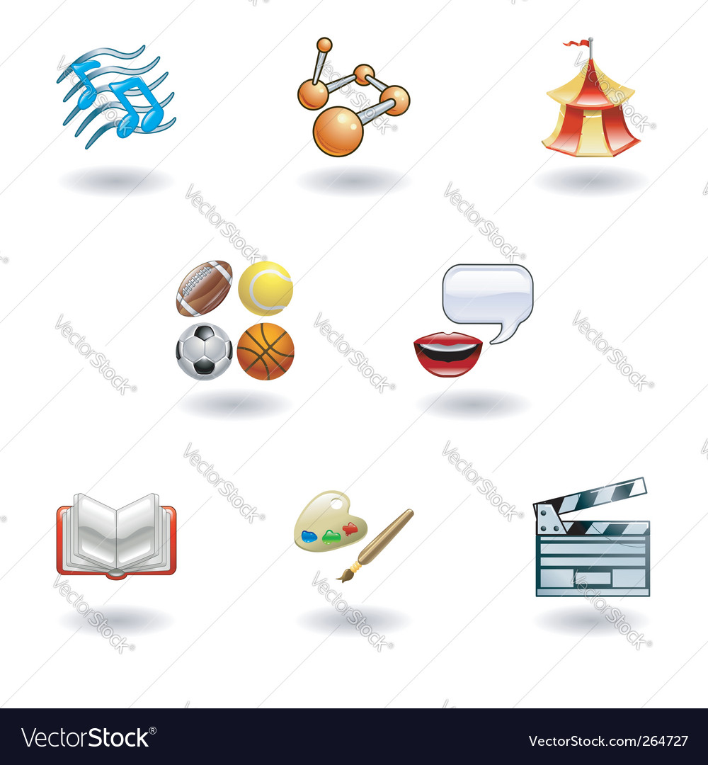 Education web icons vector | Price: 1 Credit (USD $1)