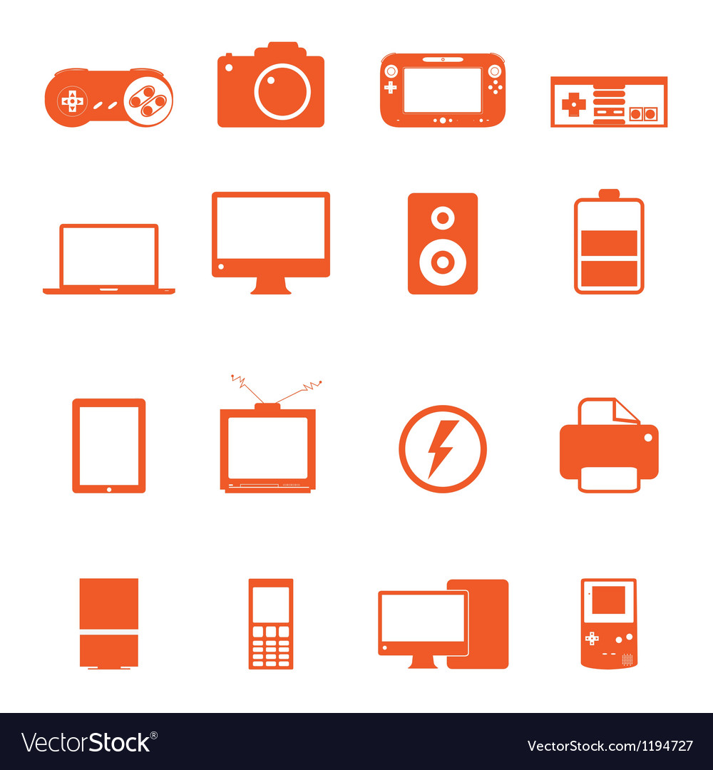 Electronic technology device icon basic style vector | Price: 1 Credit (USD $1)