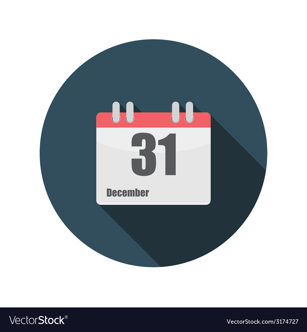 Flat design concept calendar with long shado vector | Price: 1 Credit (USD $1)