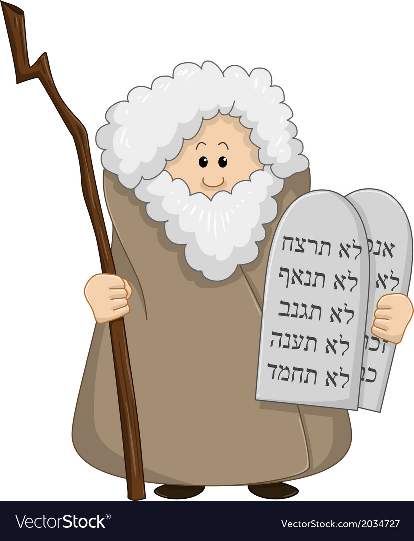 Moses holding the ten commandments vector | Price: 1 Credit (USD $1)