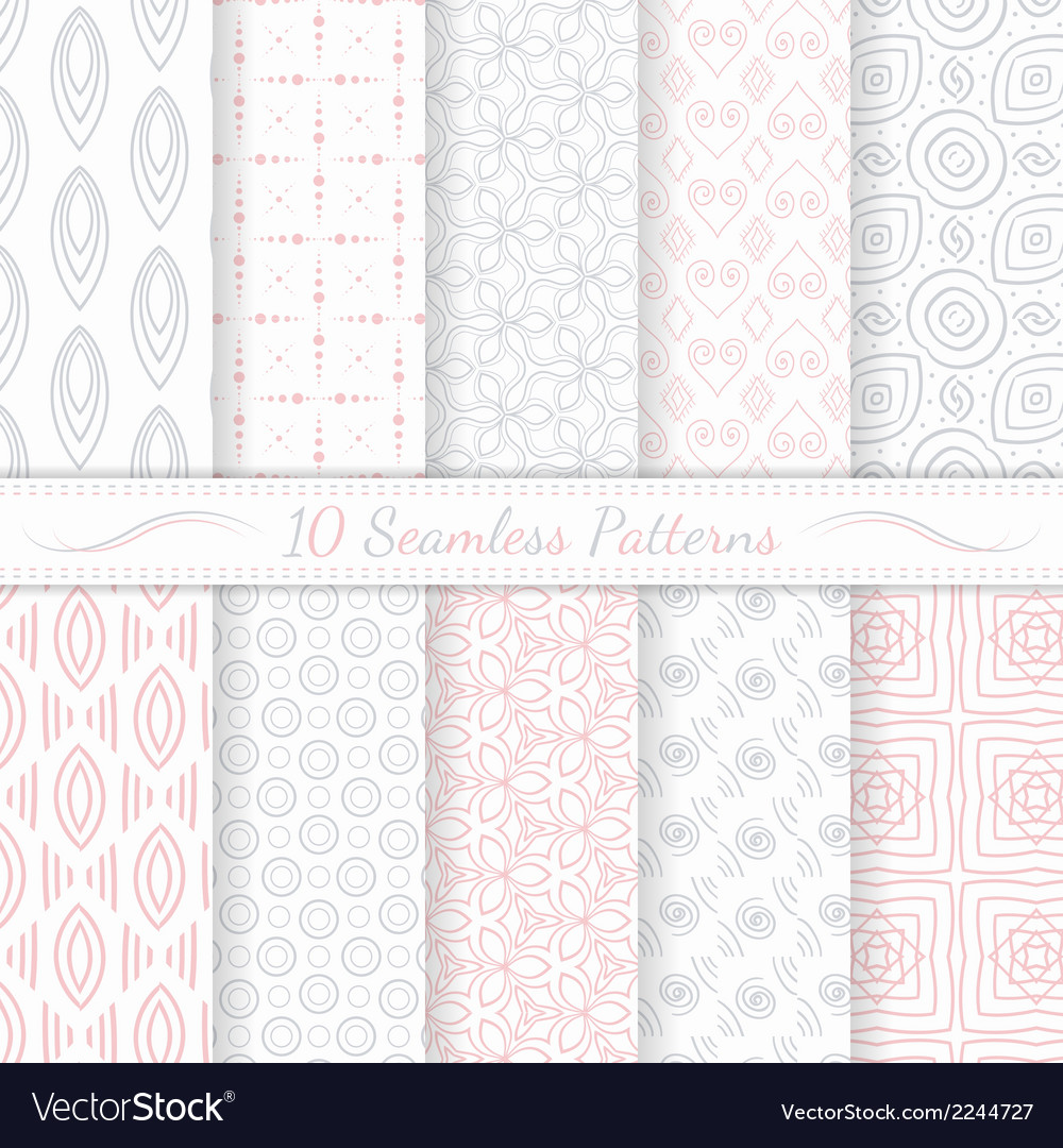 Set of ten seamless modern patterns vector | Price: 1 Credit (USD $1)