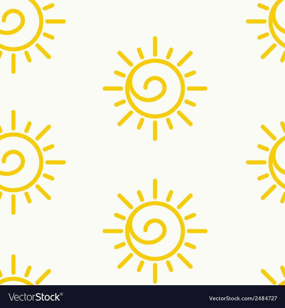 Sunny pattern vector | Price: 1 Credit (USD $1)