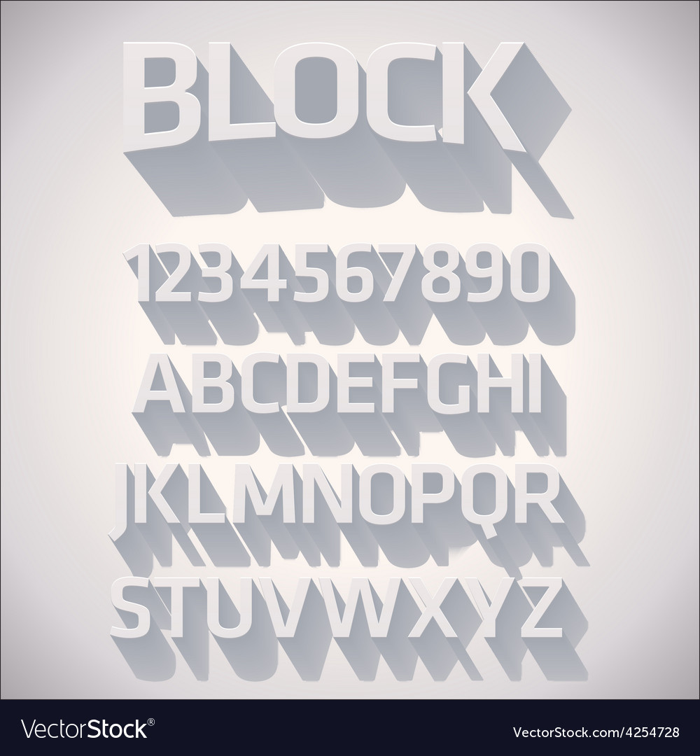 3d font with shadow vector | Price: 1 Credit (USD $1)