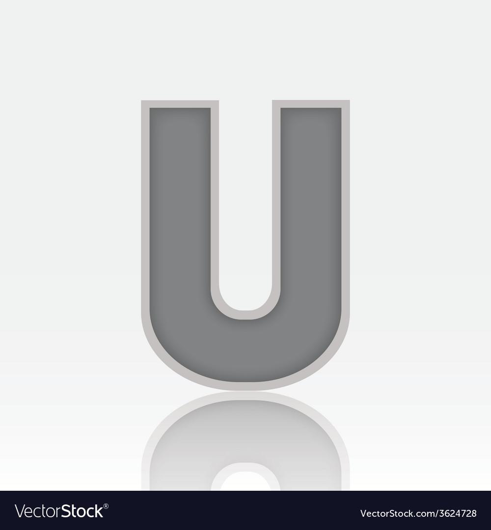 Alphabet u vector | Price: 1 Credit (USD $1)