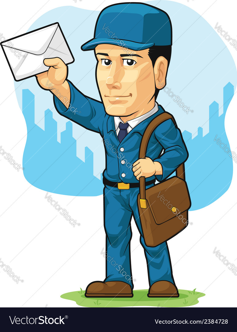 Cartoon of postman or mailman vector | Price: 1 Credit (USD $1)