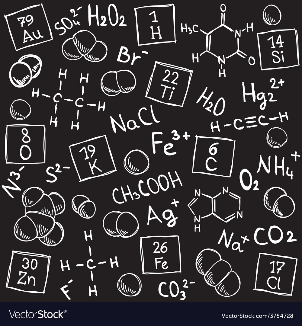 Chemistry background - molecule models and formula vector | Price: 1 Credit (USD $1)