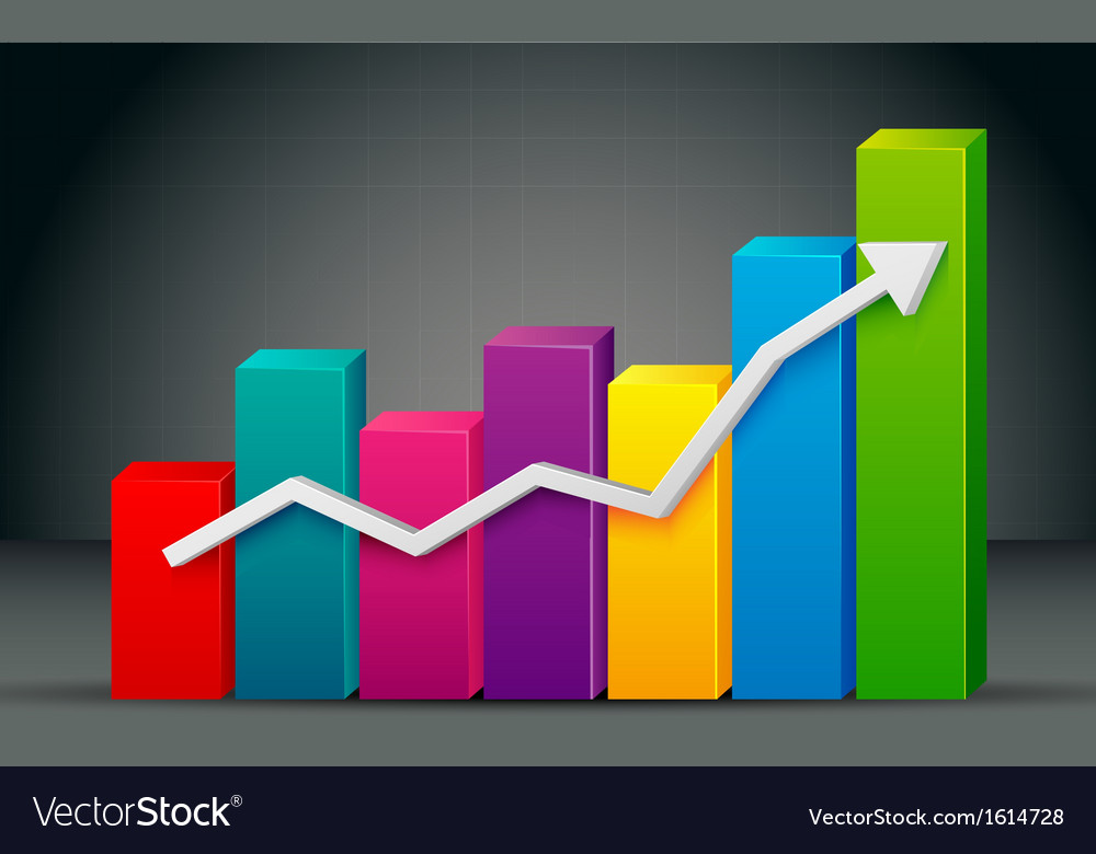 Colorful bar graph vector | Price: 1 Credit (USD $1)