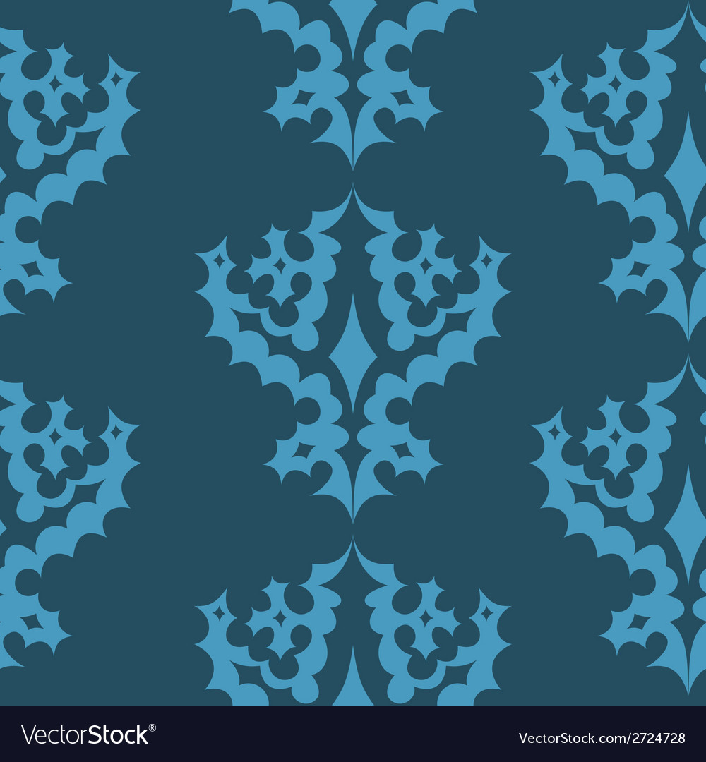 Decorative seamless wallpaper pattern vector | Price: 1 Credit (USD $1)
