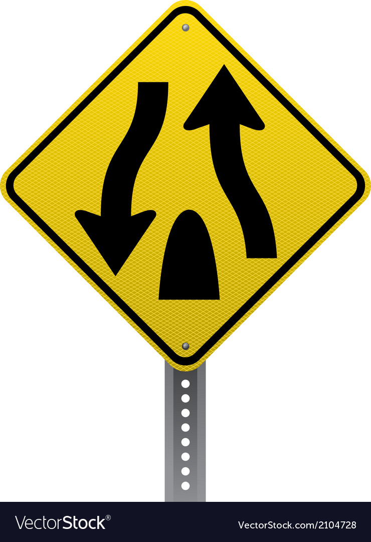 Divided highway sign vector   Price: 1 Credit (USD $1)